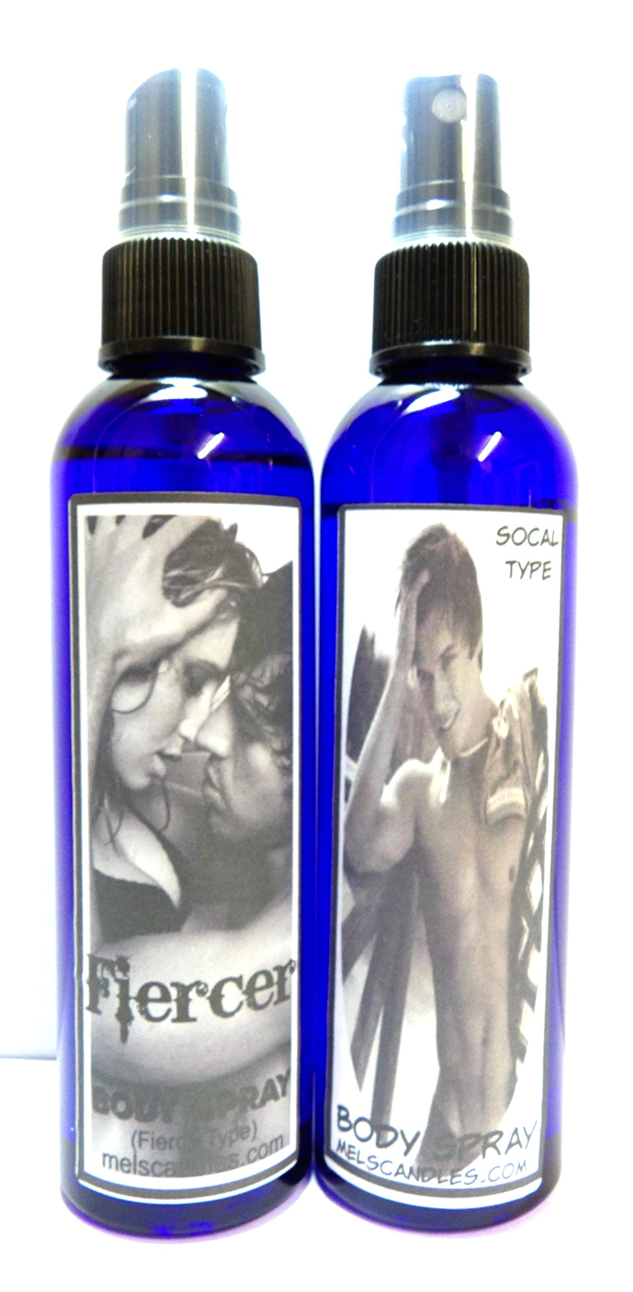 Combo Deal - 2 4oz Body Sprays - Our Versions of Abercrombie & Fitch's Fierce & Version of Hollisters Men Socal