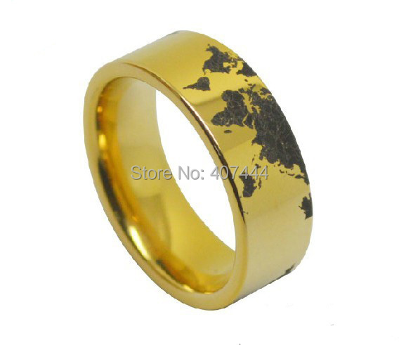 Attractive Wedding Rings Planet Earth World Map Wedding Ring