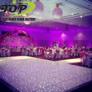 wedding waterproof acrylic flashing wear resistance and durable Marley dance floor tiles for PVC roll