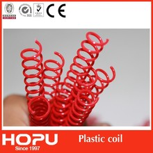 Spiral binding coil with the binding machine/coloful plastic spiral coil/pvc coil