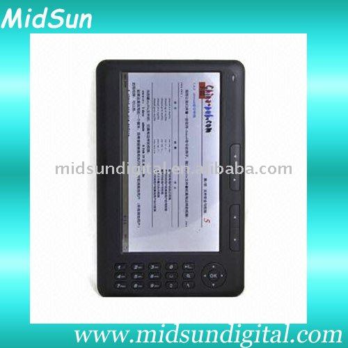 e-book,wifi,3G,e-ink,TF Card slot,fm,touch screen,spiral notebook,mid tablet pc,notebook,ebook,TFT