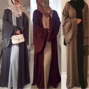 Muslim Abaya Maxi Dress Long Robe Gowns Tunic Kimono Middle East Arab Islamic Prayer Clothing