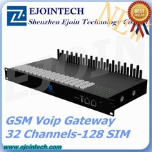 New Products Ejointech 4 / 8 / 16 / 32 channels gsm voip gateway with remote management, voip 32 ports gsm gateway goip 32 sim c