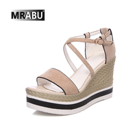 summer fashion platform wedges latest model manufacture new model women sandals wholesale china shoes