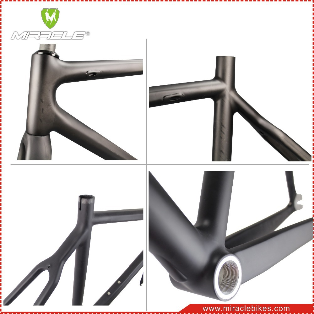 Miracle Bike 700c Single Speed Carbon Fiber Fixed Gear Bicycle Frame ...