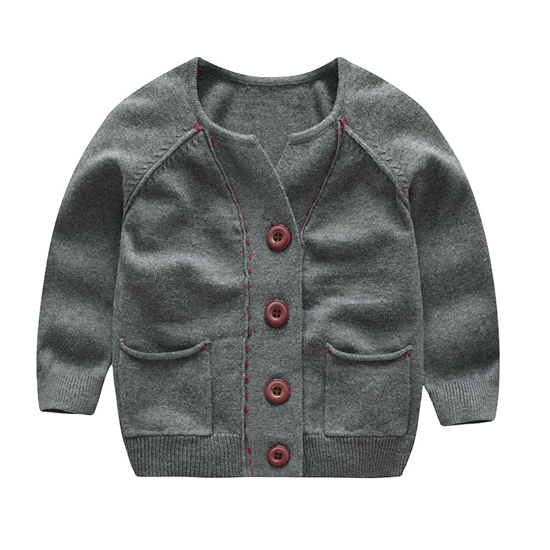 Amazon Supplier hot Brand custom cotton knitted cardigan boys stylish kids sweater baby boy wool cardigan sweater Knitwear фото