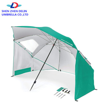 Upf 50 Protection Beach Tent Sun Shelter Green Umbrella Beach
