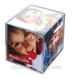 Lucite desktop 6 sides sexy gril and boy acrylic love photo frame