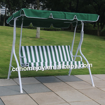 Luxury 3 Seat Garden Swing Chair, Outdoor Swing Seat, Garden Metal Swing