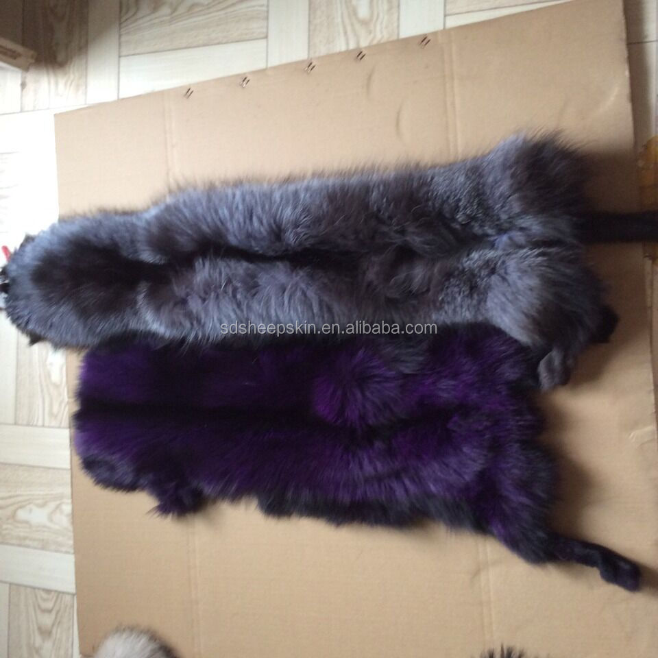 Factory Direct 100% Quality Real Fox Skin And Raccoon Skin Raw Material