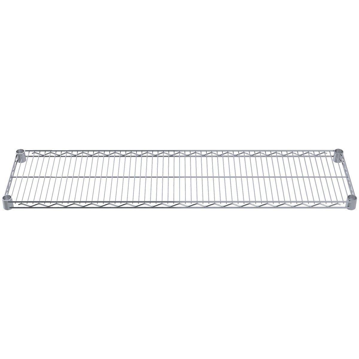 Akro-Mils AWS1248SHELF 12-Inch X 48-Inch NSF Approved Industrial Grade Chrome Wire Shelf, 4-Pack