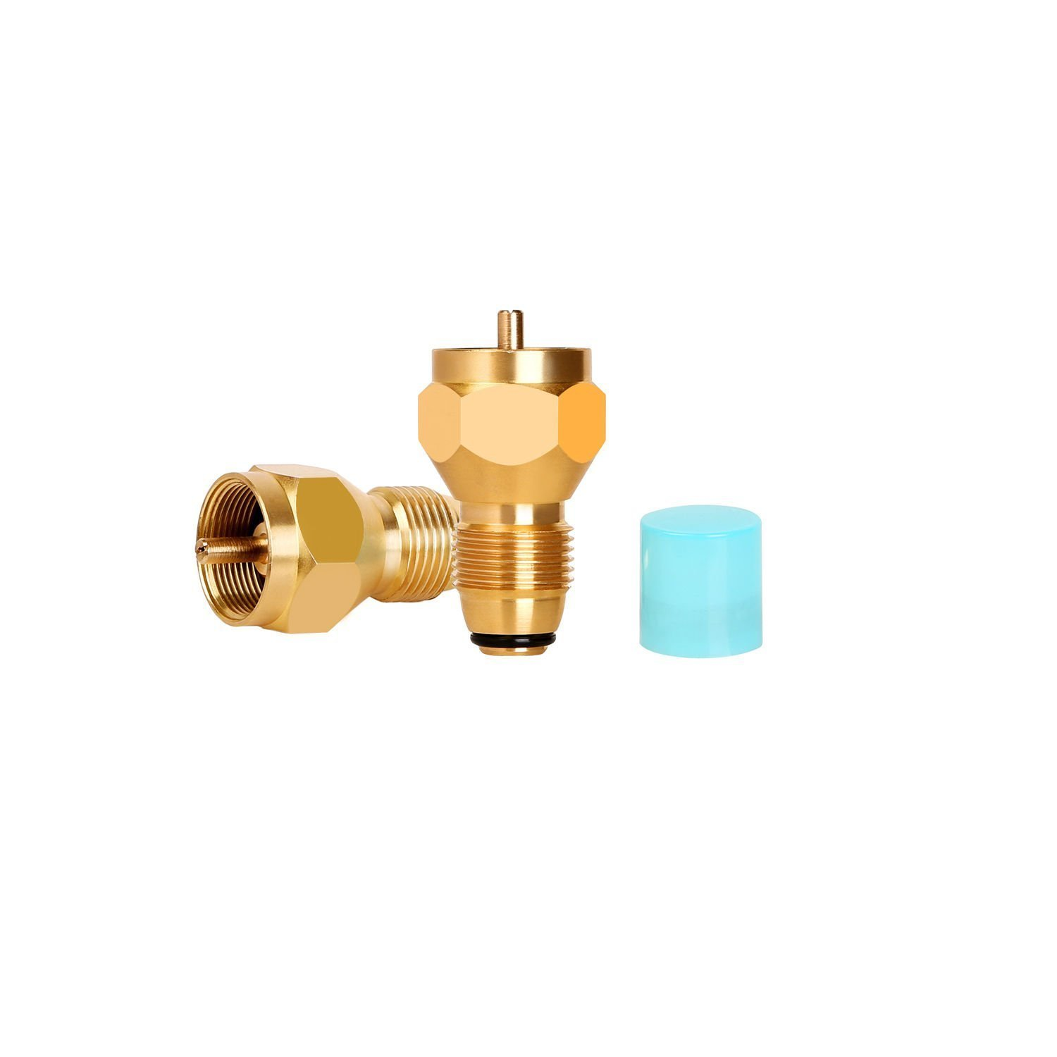 iMeshbean One pound Tank Propane refill adapter for small cylinders 100% Solid Brass with safety protection