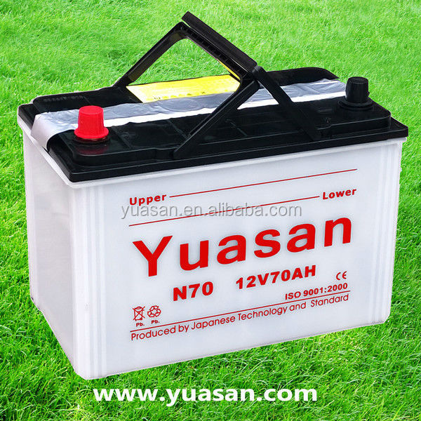 80D26R(N70) Super JIS Long Life Dry Charged Automotive Battery 12V 70AH Car Battery