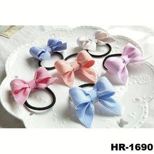 Cheap wholesale hair accessories plain fabric hair band hair elastic band bow tie