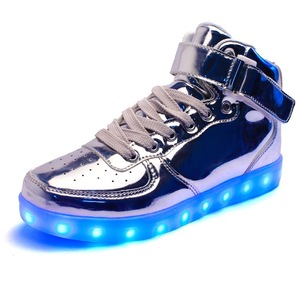 new fashion kids mens led flashing shoe light light up dance shoes for party