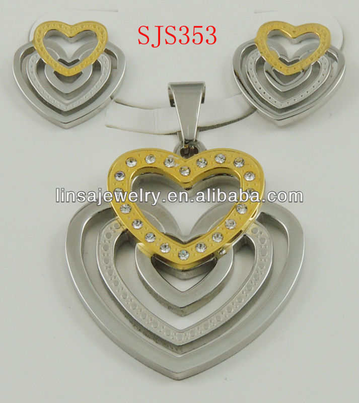 Arabic Fashion Jewelry Wholesale Stainless Steel Jewelry Sets