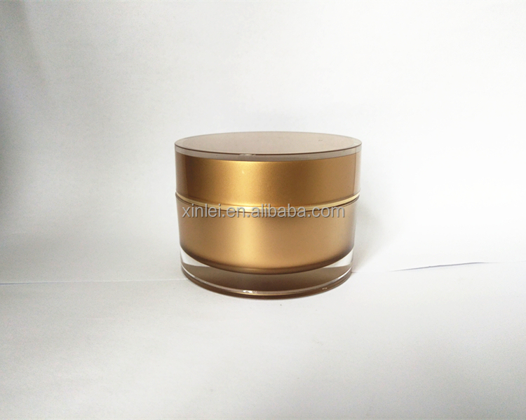 50ml 1.7OZ straight round thick wall acrylic stock cosmetic jar container