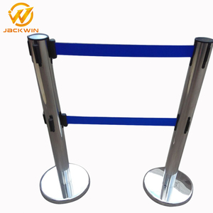 Stainless Steel Retractable Belt Barrier Crowd Control Post