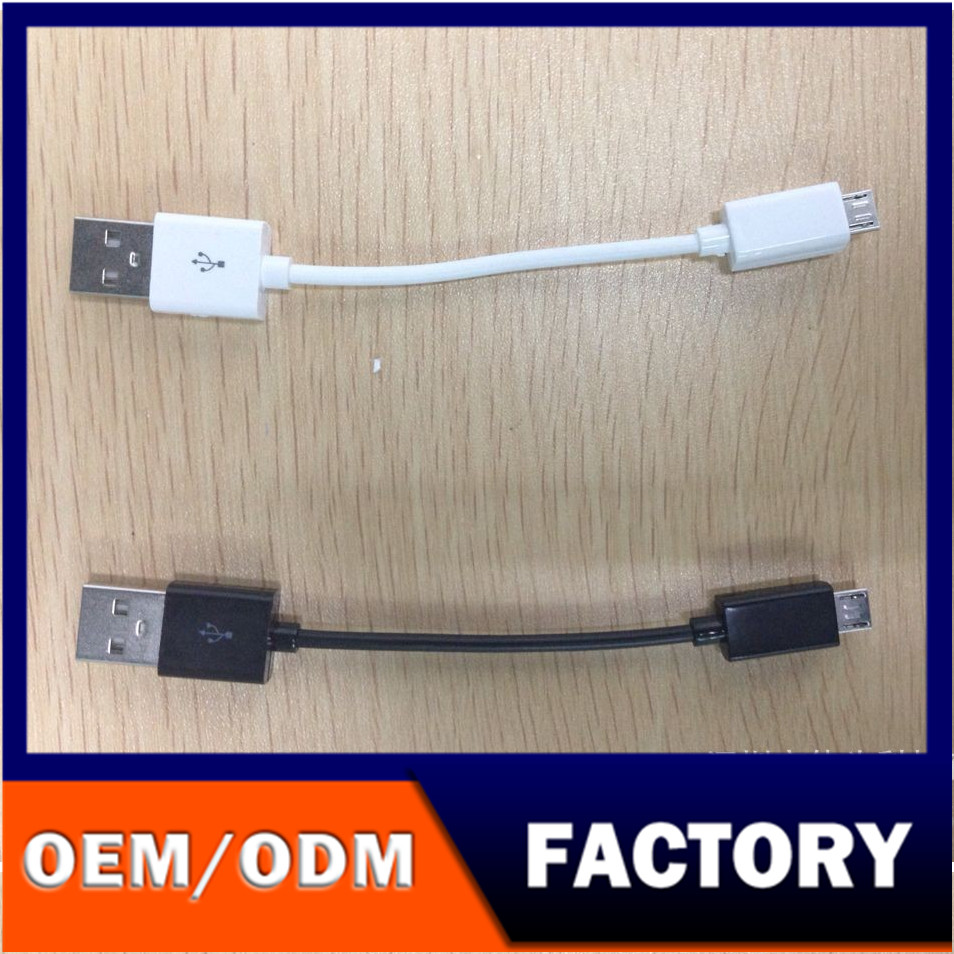 Pocket cable!!! 10CM usb to Micro USB cable/10CM USB 2.0 A to Micro B Data Sync Charge Cable Cord For Cellphone PC Laptop