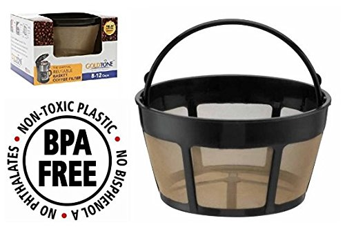 GoldTone Brand Reusable 8-12 Cup Basket Coffee Filter fits Cuisinart Coffee Makers and Brewers. Replaces your Cuisinart Reusable Basket Coffee Filter - BPA Free (1)