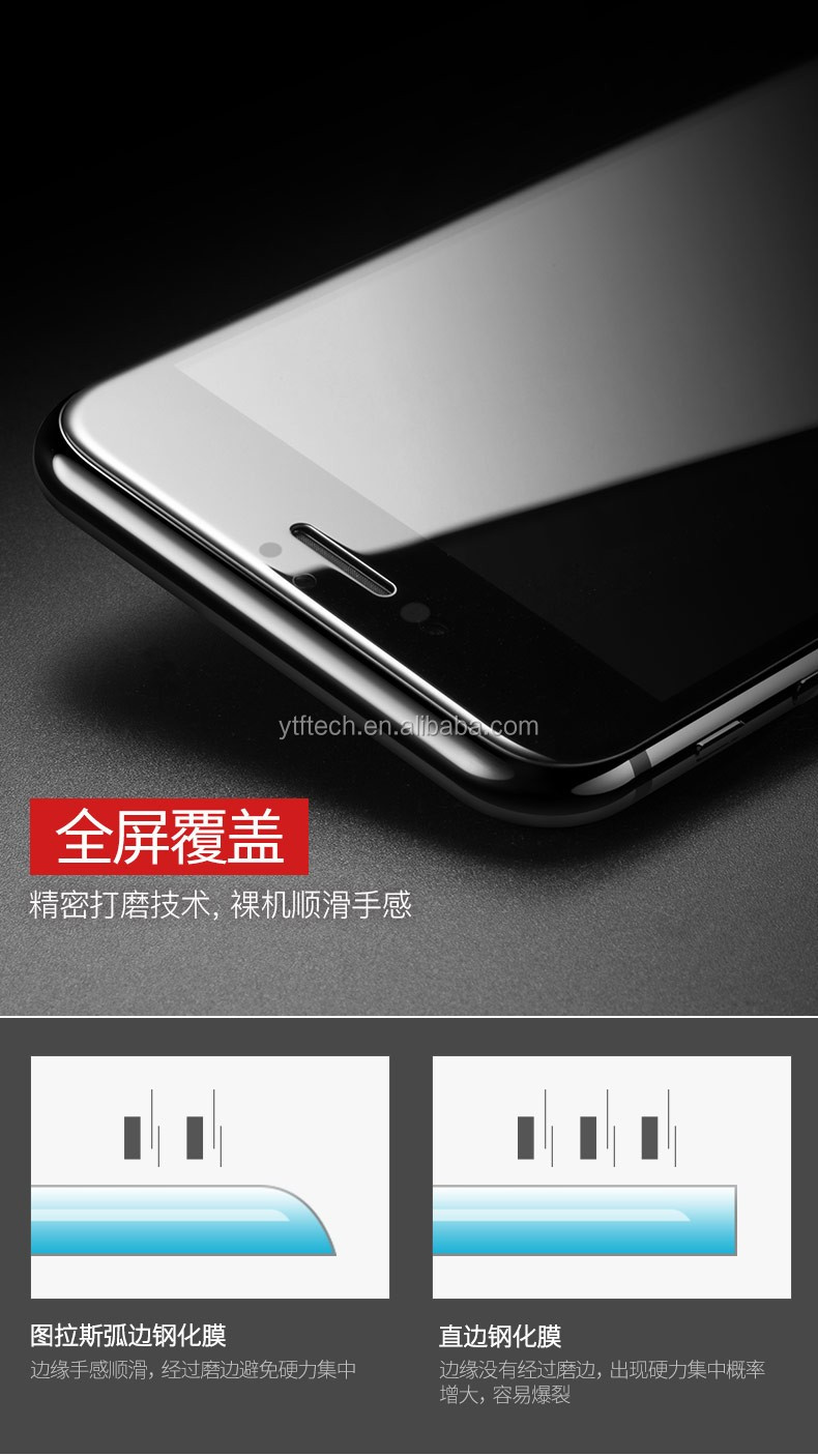 2017 9h New Design 4d Cold Curved Full Screen Cover Tempered Glass Layar Oppo F1s For A59
