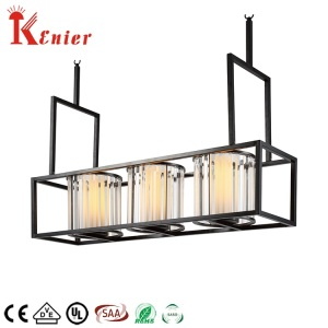 New Innovative Products Ceiling Mount Foyer Lamp Shades E14 Square Crystal Chandelier