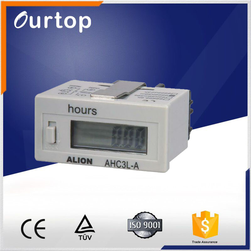 12v 24v 220v dc White Digital Hour Meter