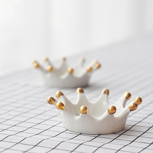 Ring Small Rack Rings Bracelets Earrings Jewellery Trays Decorative Crown Ceramic jewelry Holder