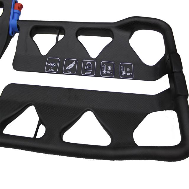Carbon fiber scoop stretcher