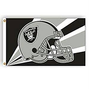 Oakland Raiders NFL Helmet Design 3'x5' Banner Flag