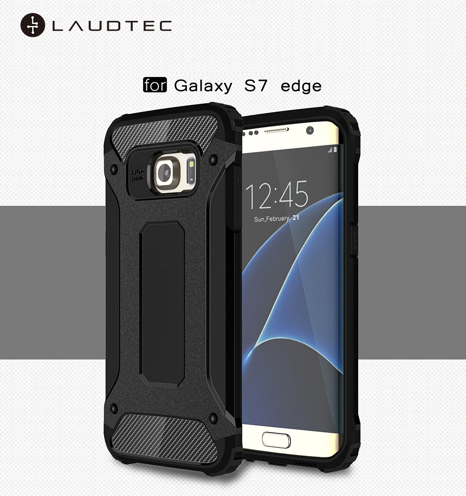 Laudtec Shockproof Hard Cover Soft TPU Hybrid Armor Mobile Phone Case For Samsung Galaxy S7 edge фото