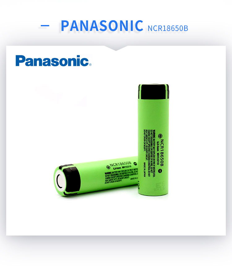Panasonic Batterie agli ioni di litio 18650 ncr18650b 3400mah Panasonic NCR