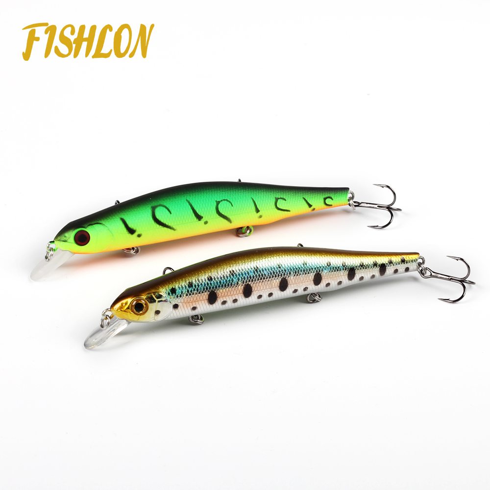 110mm 17.5g slow sinking fishing lure minnow with weight transfer systerm