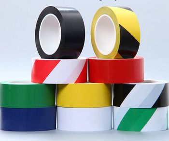 PVC DEMARCATION TAPE floor marking tape Solvent Rubber adhesive