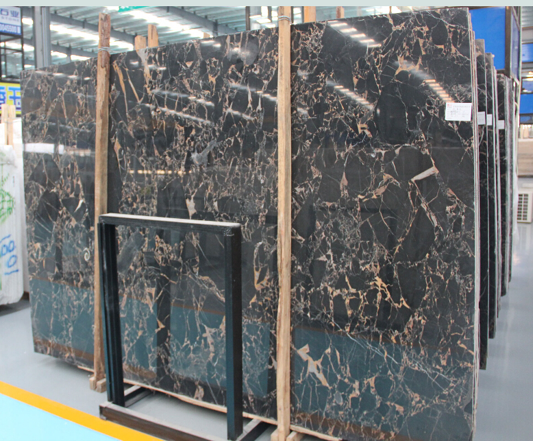 Top quality Chinese portoro vein marble slabs