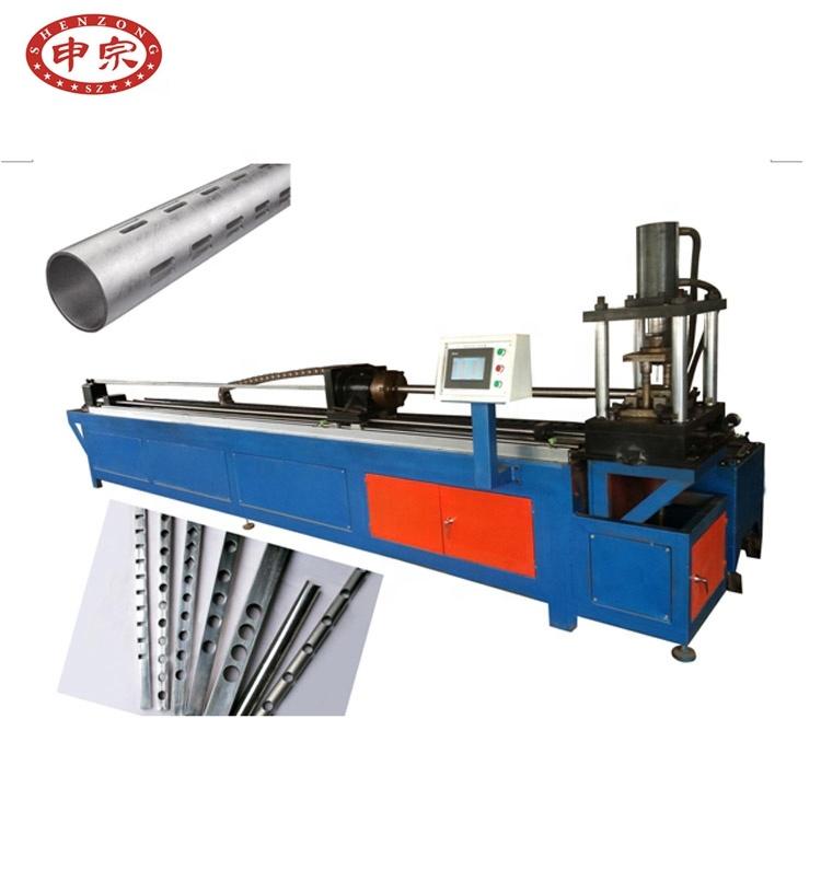 Mesin Pelubang Lubang Tabung Otomatis CNC Pipa