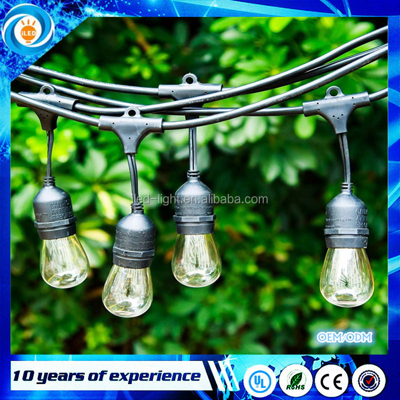 Christmas outdoor decoration S14 led string lights 48Ft UL list commercial led string light