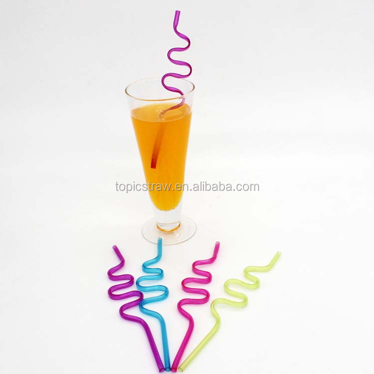 Decoratieve custom crazy straw krullend rietje