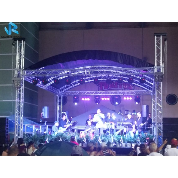 Small Stage Lighting Truss Aluminum Folding System Square Decoration Light Roof