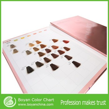 professional hair color swatch book silky hair color chart from boyan - Color Swatch Book