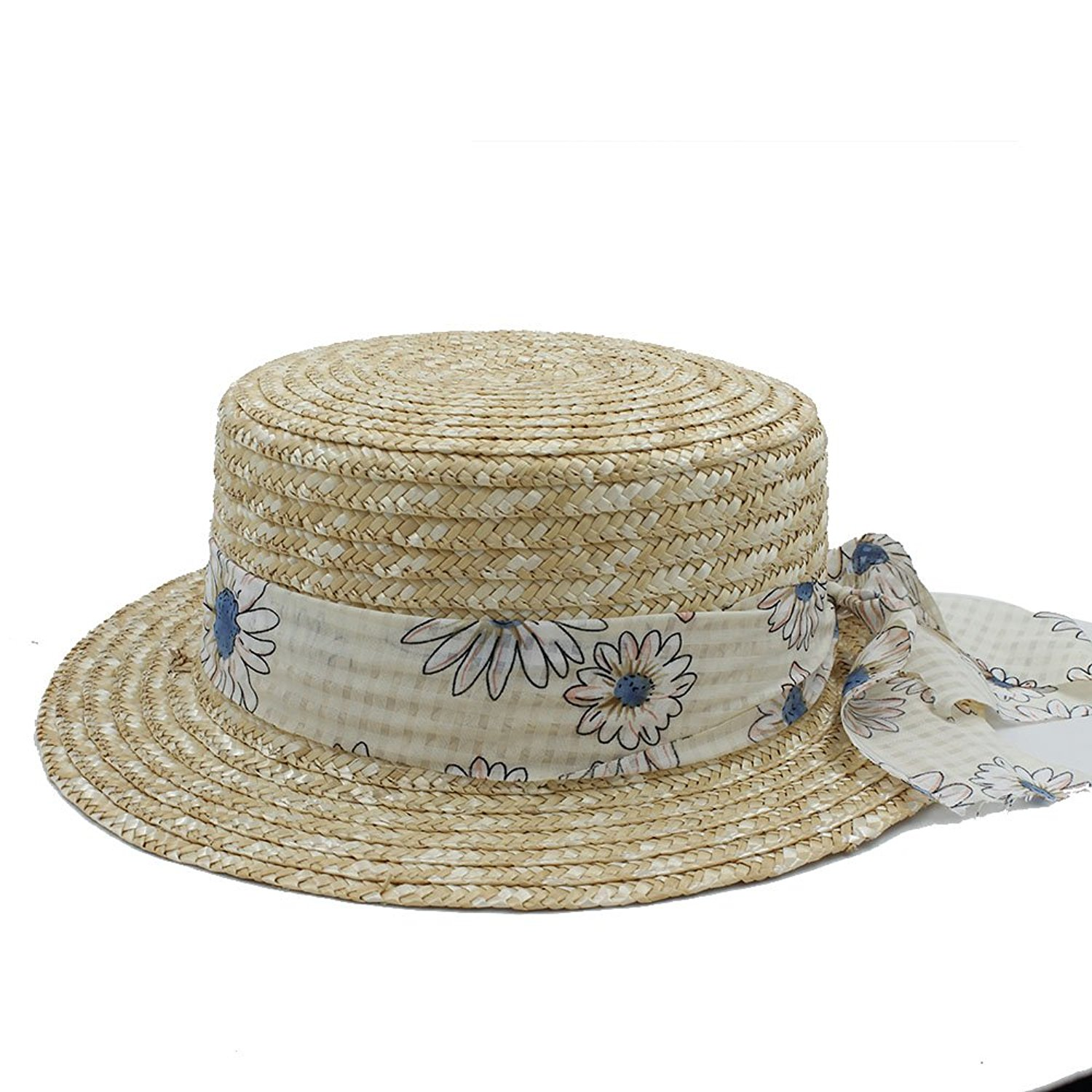 a48ed9e915e3b Get Quotations · Gweat Boater Flat Top Hat For Women s Felt Wide Brim Fedora  Hat Laday Prok Pie Chapeu