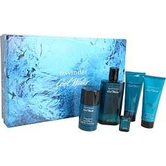 Cool Water By Davidoff for Men 5 Piece Set: 4.2 Oz Eau De Toilette Spray + 2.5 Oz After Shave Balm + 2.5 Oz Shower Gel + 5ml Eau De Toilette Miniature + 2.4 Oz Deodorant Stick