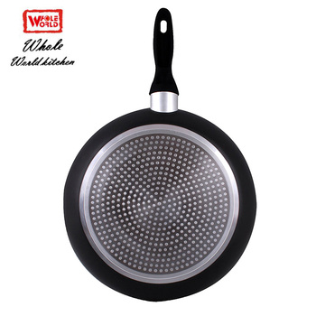 Various size aluminum non-stick large fry pan skillet induction cookware