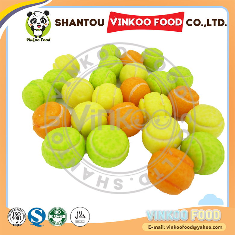 Factory direct sales choice materials round ball chewing bubble gum