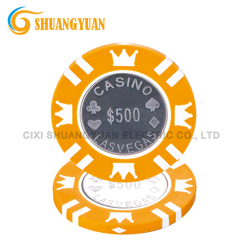 15g las vegas casino munt inlay poker chip