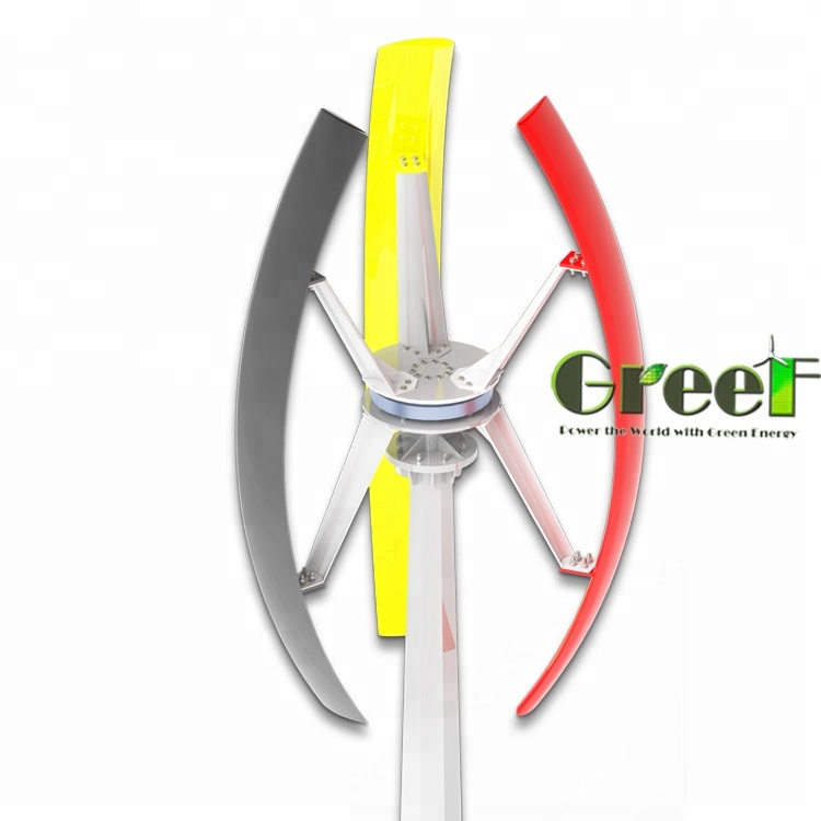 1KW Helical Design Vertical Axis Wind Turbines/ Home Wind Energy Generator