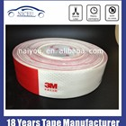 Hot sale 3M White Red Reflective Night Safety Warn Conspicuity Tape Film Sticker