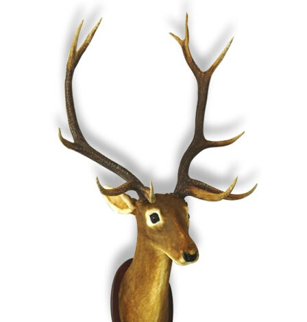 Plastic Imitation Furry Deer Head Wall Decoration Moose Decor Modern Animal Heads Product On