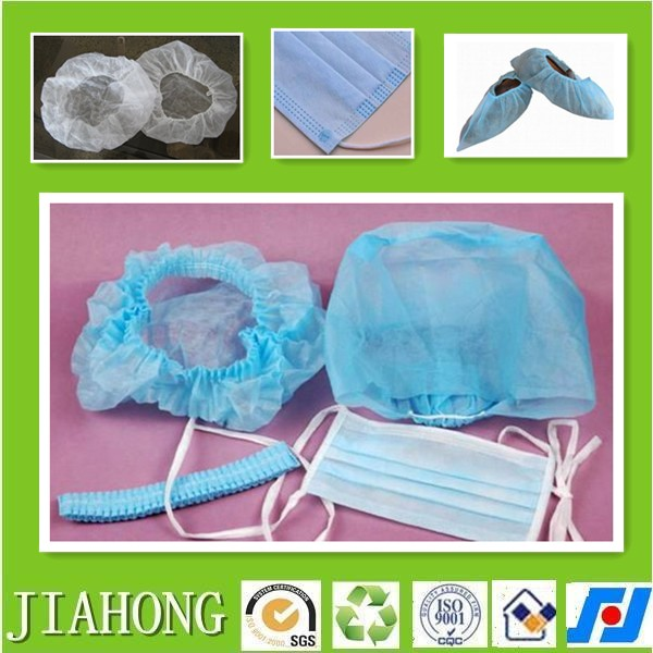 pp spundbond nonwoven fabric face mask hair shoe cover