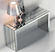 simple design modern rectangle mirrored console table